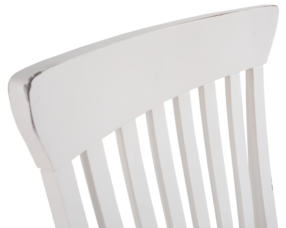 Danbeck Chipped White Dining Uph Side Chair 2 Cn