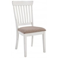 Danbeck - Chipped White - Dining UPH Side Chair (2/CN)