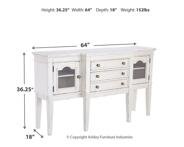 Danbeck - Chipped White - Dining Room Server
