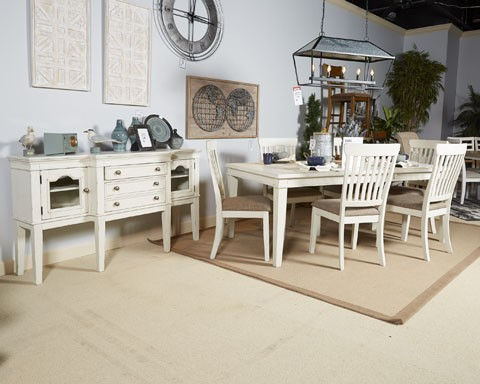 Danbeck - Chipped White - Dining Room Server | D603-60 | Servers ...