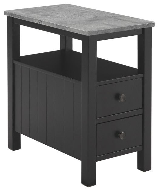Ezmonei Black Gray Chair Side End Table T341 7 Chair Side Tables Home Design Furniture