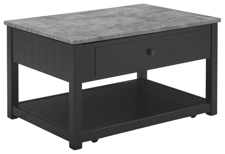 Ezmonei Black Gray Lift Top Cocktail Table T341 9 Cocktail