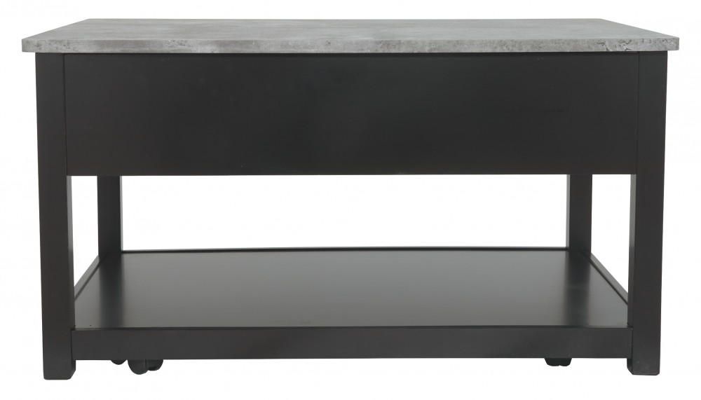Lift Top Coffee Table Black.Ezmonei Black Gray Lift Top Cocktail Table