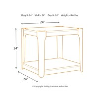 Geriville - Brown - Square End Table