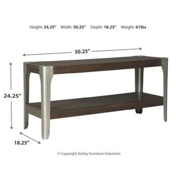 Geriville - Brown - Sofa Console Table