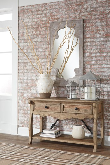 Dazzelton - Light Brown - Sofa Table