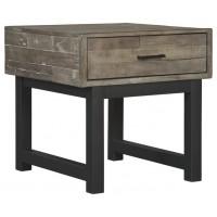 Mondoro - Grayish Brown - Square End Table