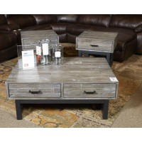 Mondoro - Grayish Brown - Square End Table