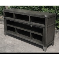 Todoe - Gray - LG TV Stand w/Fireplace Option