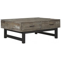 Mondoro - Grayish Brown - Lift Top Cocktail Table
