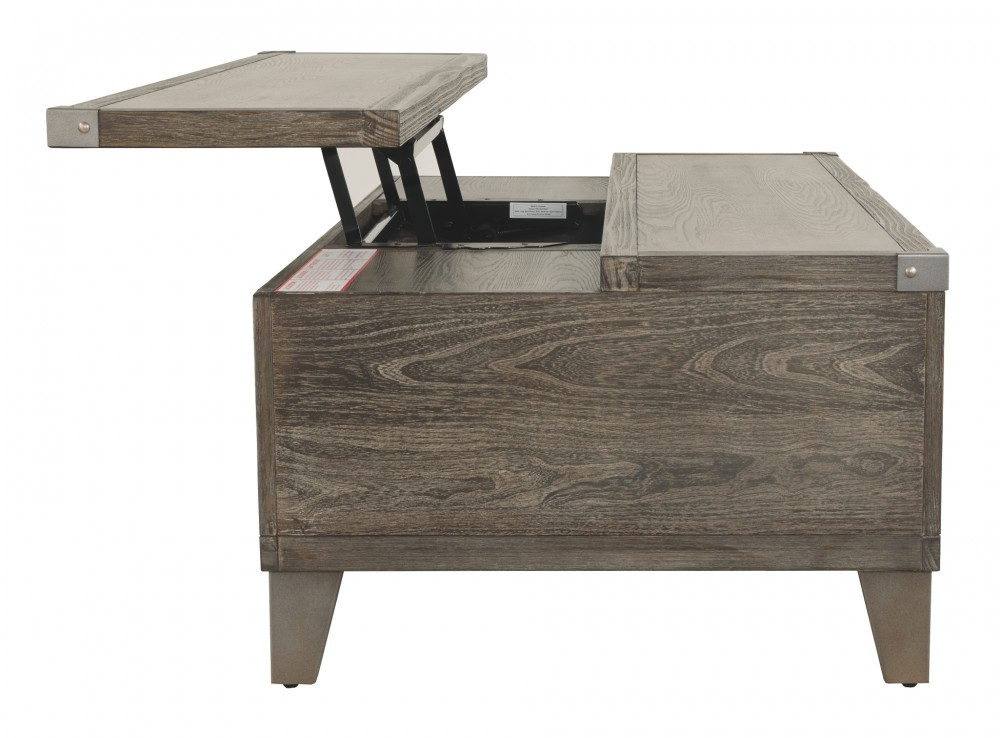 Chazney Rustic Brown Lift Top Cocktail Table T904 9