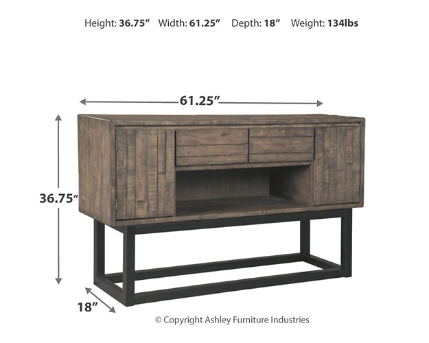 Cazentine - Grayish Brown - Dining Room Server | D579-80 | Servers ...