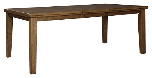 Flaybern   Brown   RECT DRM Butterfly EXT Table