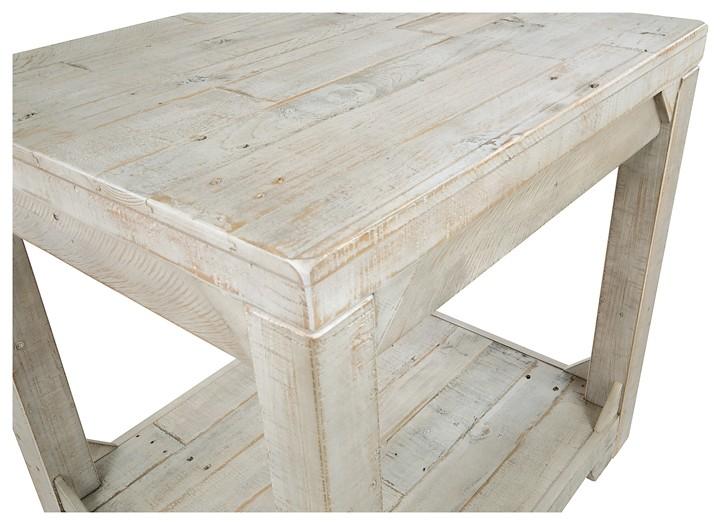 fregine white wash rectangular end table - White Wash End Tables