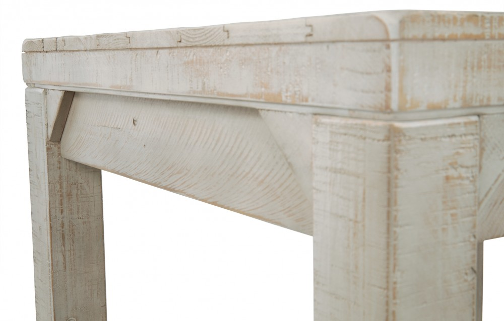 Fregine - White Wash - Rectangular End Table