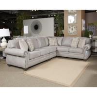 Olsberg - Steel - LAF Sofa w/Corner Wedge
