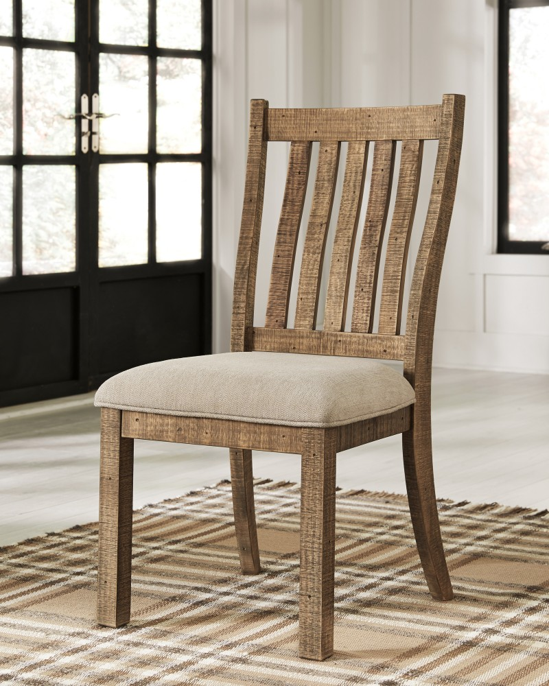 Grindleburg Dining Room Table: Dining UPH Side Chair (2