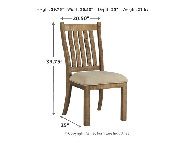Ashley D754 05: Dining UPH Side Chair (2