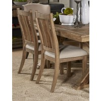 Grindleburg - White/Light Brown - Dining UPH Side Chair (2/CN)