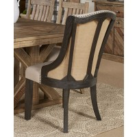 Grindleburg - White/Light Brown - Dining UPH Arm Chair (2/CN)
