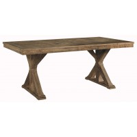 Grindleburg - White/Light Brown - Rectangular Dining Room Table