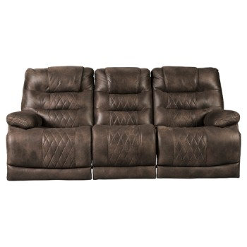 Welsford - Walnut - PWR REC Sofa with ADJ Headrest