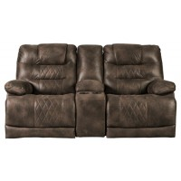 Welsford - Walnut - PWR REC Loveseat/CON/ADJ HDRST