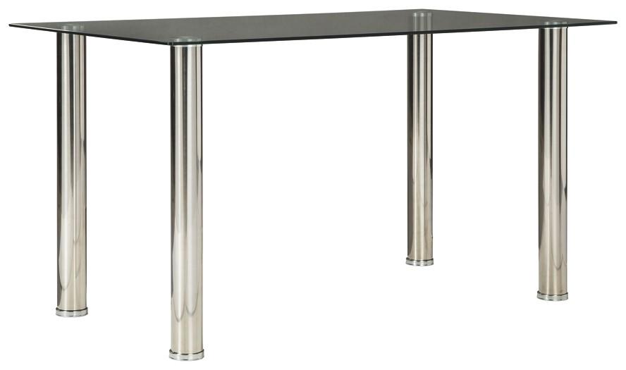 Sariden black white rectangular dining room table