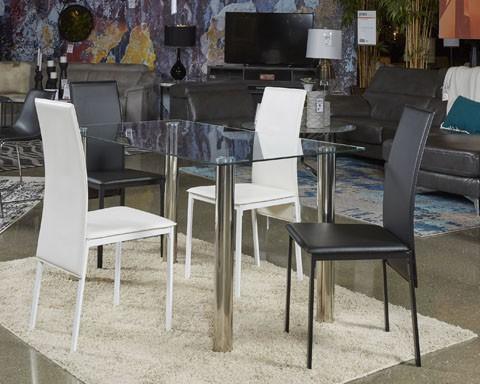 sariden - black/white - rectangular dining room table | d170-125