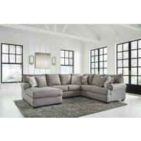 Renchen - Pewter - Armless Loveseat