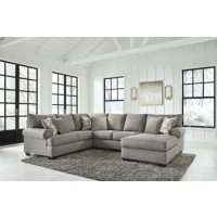 Renchen - Pewter - LAF Sofa w/Corner Wedge