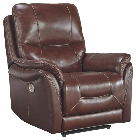 Stolpen - Walnut - PWR Recliner/ADJ Headrest