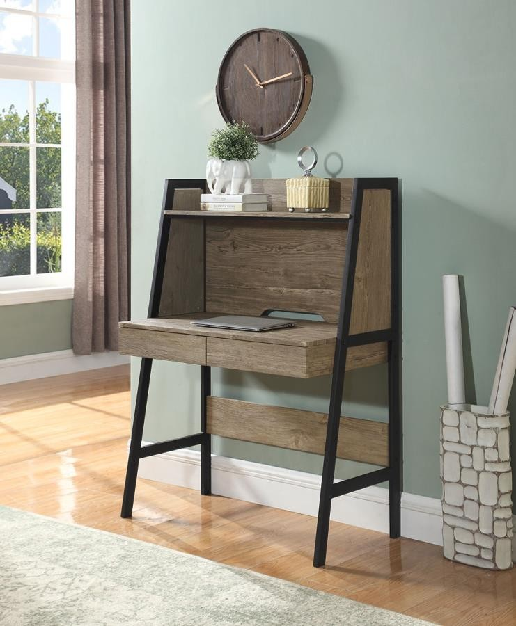 desks oak wood brass modern writing dante gold desk cimp rom century mid