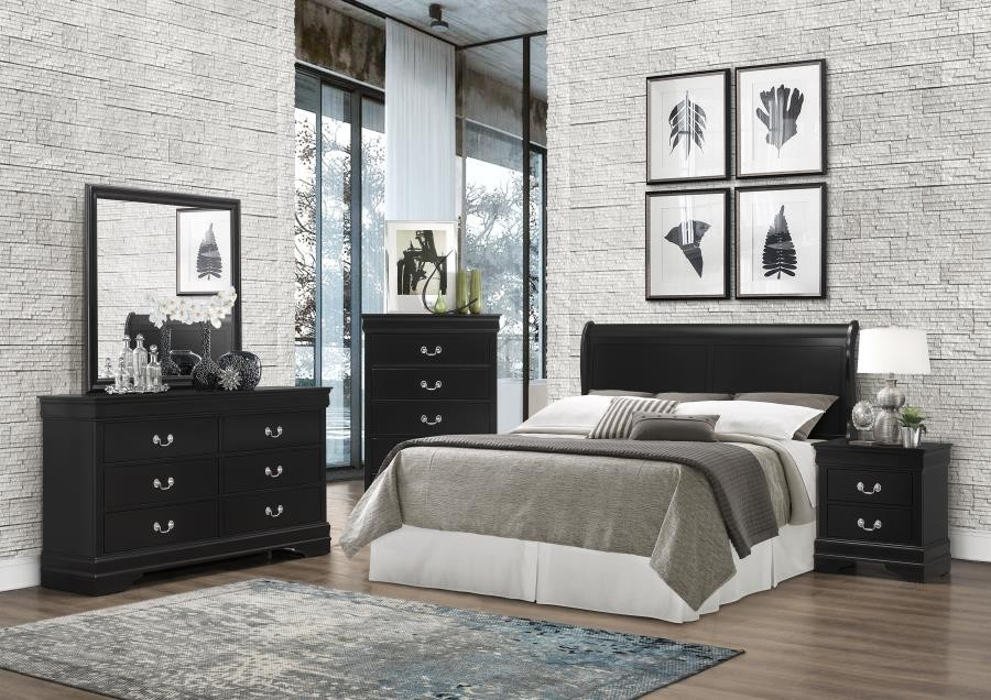 Louis philippe collection wood headboard 212411keh headboards price busters furniture for Cheap bedroom sets in philadelphia