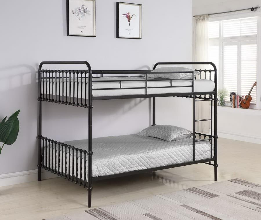 Hanklin Dark Bronze Full Over Full Bunk Bed 461106 Bunk Beds