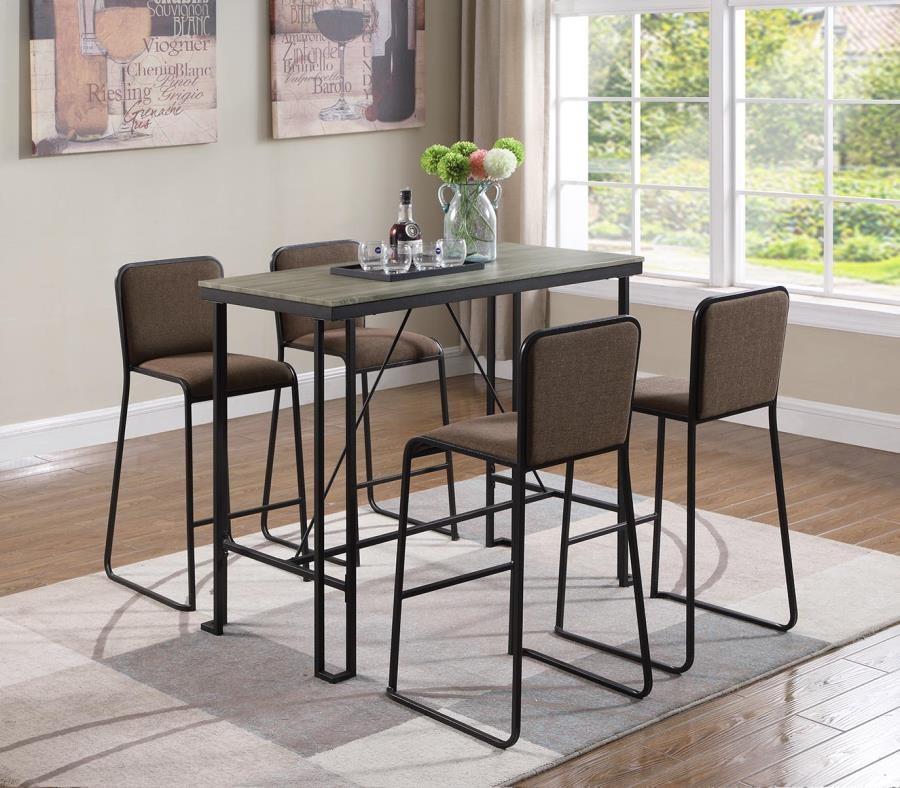 Rectangular Pub Tables Amazon Com: Rectangular Bar Table Weathered Taupe And Dark Bronze