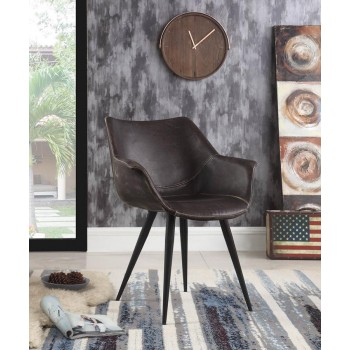 Modern Brown and Grey Dining Chair (Pack of 2)
