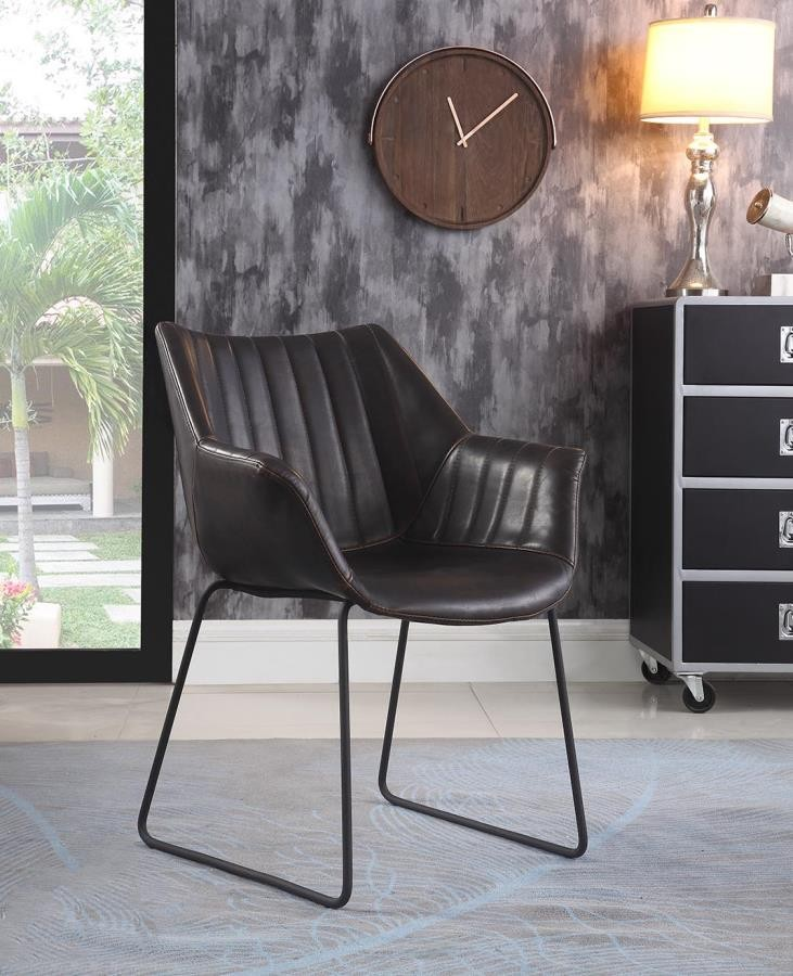 Modern Antique Espresso Dining Chair (Pack of 2)