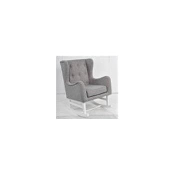 Upholstered Rocking Chair Grey And White