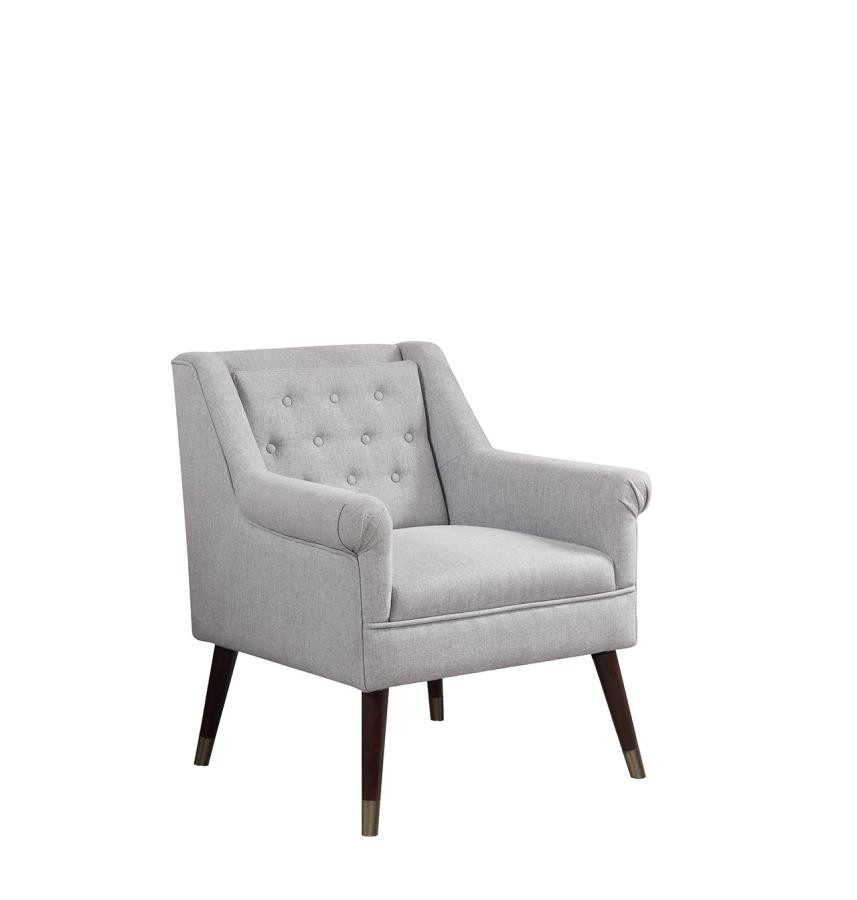 Outstanding Upholstered Light Grey Accent Chair Caraccident5 Cool Chair Designs And Ideas Caraccident5Info