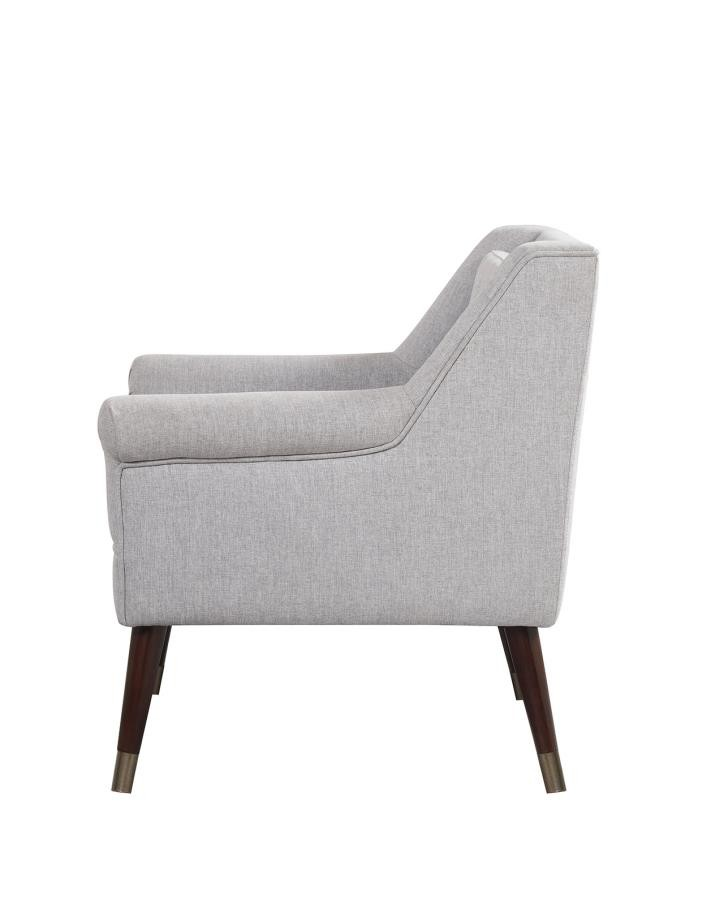 Upholstered light grey accent chair 903857 chairs - Unique accent chairs for living room ...