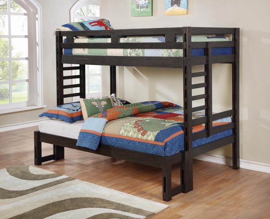 Hilshire Dark Grey Twin Over Full Bunk Bed 461151 Bunk Beds