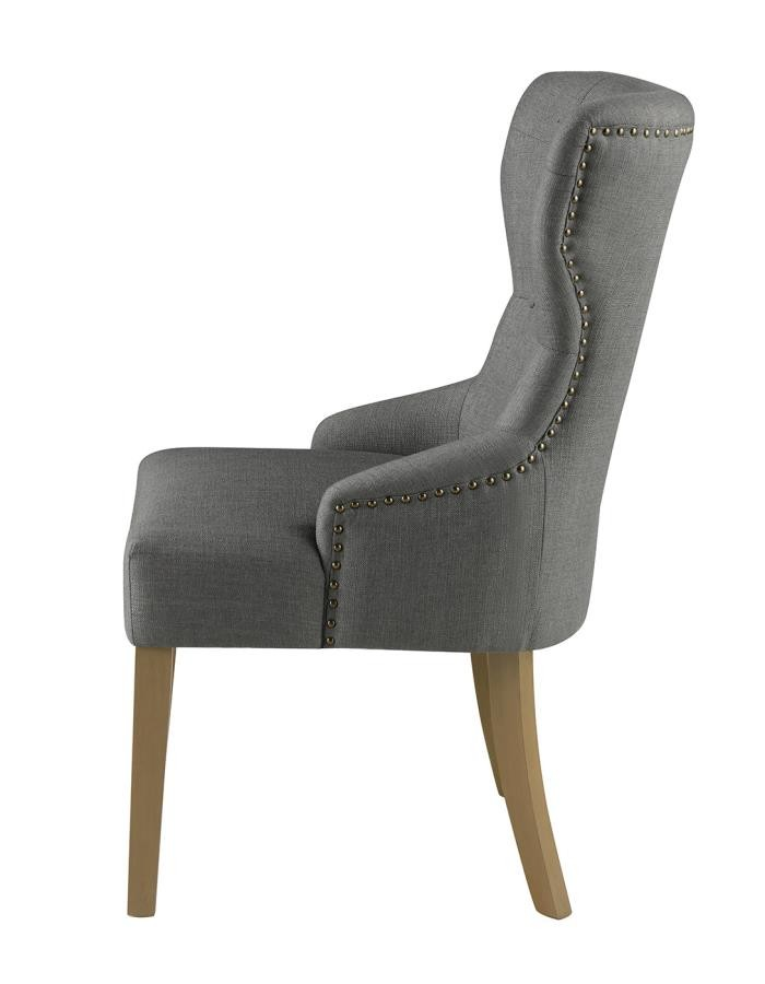 Modern Grey And Natural Tufted Dining Chair 104537
