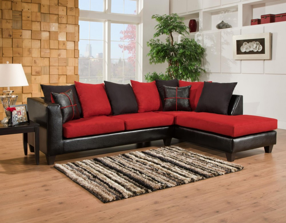 Sierra 4184 Red Sectional