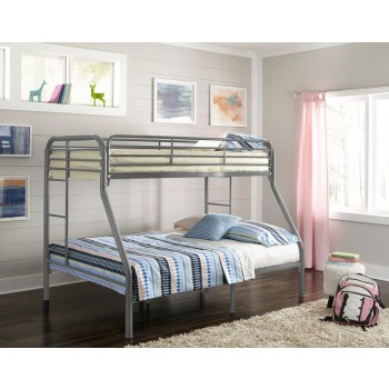 SILVER TWIN/FULL BUNKBED