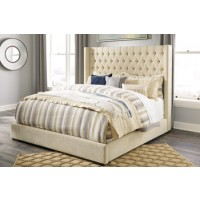 Norrister Queen Upholstered Footboard with Rails