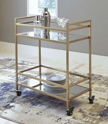 Kailman - Gold Finish - Bar Cart