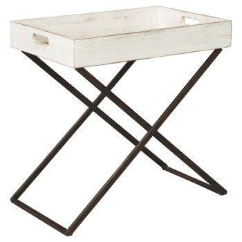Janfield - Antique White - Accent Table