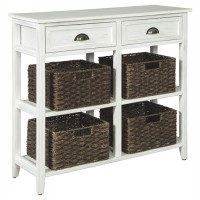Oslember - White - Console Sofa Table
