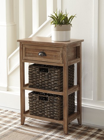 Oslember Light Brown Accent Table A4000140 Accent